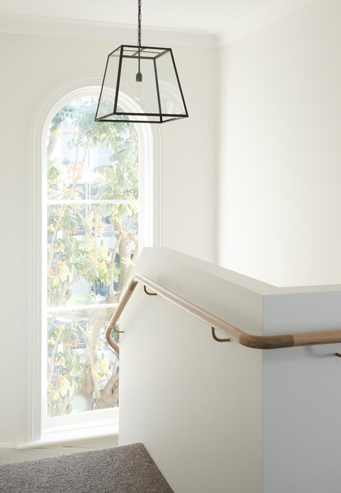 Over the stairs, Davey Lighting 'Mercer St.' pendant light from Dunlin.