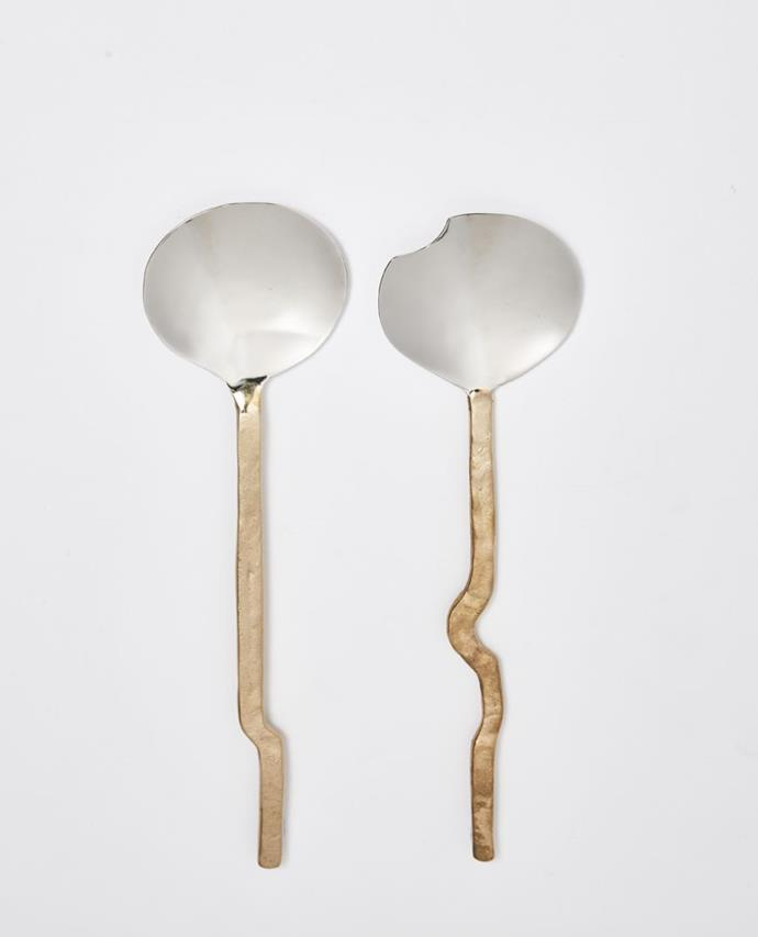 "Dante Brass & Steel Salad Server, Set of 2, $99, [Papaya](https://www.papaya.com.au/dante-brass-steel-salad-server-set-of-2|target=""_blank""