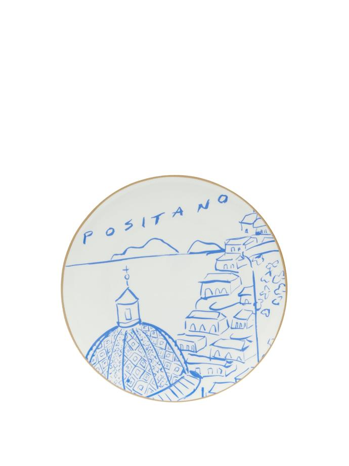 "LE SIRENUSE POSITANO X Luke Edward Hall Positano View bone china plate, $98, [MatchesFashion](https://www.matchesfashion.com/au/products/Le-Sirenuse-Positano-X-Luke-Edward-Hall-Positano-View-bone-china-plate-1378922|target=""_blank""