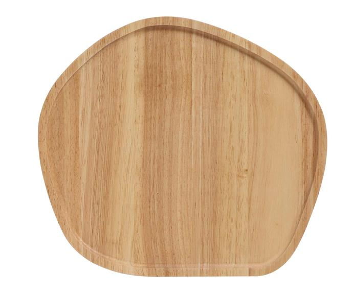 Stanley Roger Round Wooden Serving Platter, $29.95, [Catch](https://www.catch.com.au/product/stanley-roger-25x23cm-round-wooden-serving-platter-5063894/).