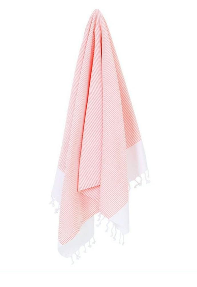 "Collective Sol Coolum towel, $59, [Myer](https://www.myer.com.au/p/collective-sol-colum|target=""_blank""