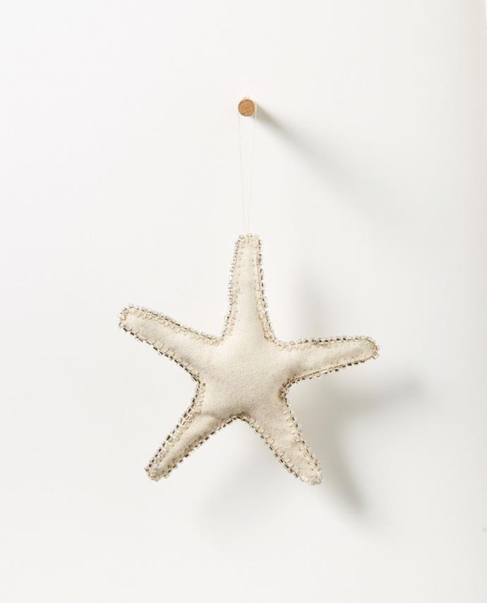 "Bedouin Hanging Starfish - Upcycled Canvas with glass beads - Large, $19.95, [Papaya](https://www.papaya.com.au/bedouin-hanging-starfish-upcycled-canvas-with-glass-beads-large|target=""_blank""|rel=""nofollow"")"