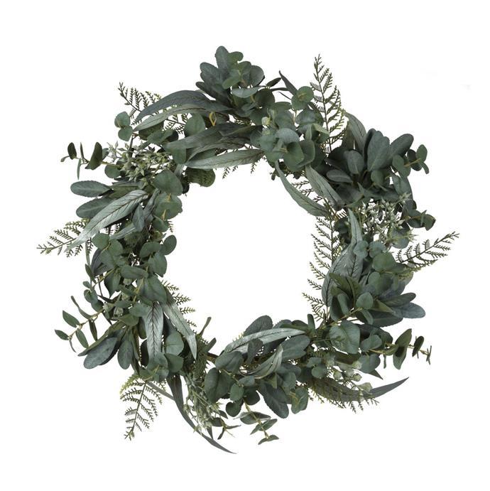"Eden Australiana Wreath, $135, [Hamptons Style](https://hamptonsstyle.com.au/collections/hamptons-style-christmas-2020/products/edenaustralianawreath|target=""_blank""|rel=""nofollow"")"