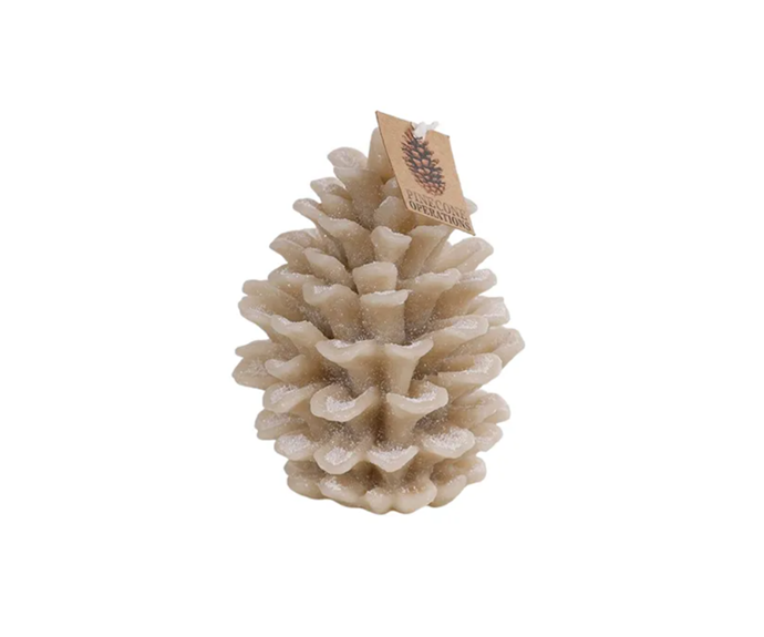 """Aspen Pinecone Candle 13.5cm, $15.99, [Hamptons Style](https://hamptonsstyle.com.au/collections/hamptons-style-christmas-2020/products/aspenpineconecandle135cm