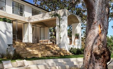 A 1950s home receives a Mediterranean-style makeover