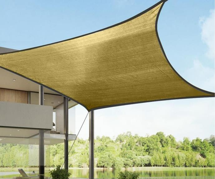 "Sun Shade Sail Awning 5m x 3m, $53.99, [Kogan](https://www.kogan.com/au/buy/heavy-duty-sail-shade-in-sand-5x3m-180gsm-essentials/|target=""_blank""