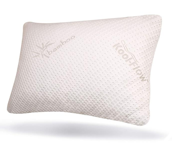 """**[Snuggle-pedic Bamboo Memory Foam Pillow, $199, Matt Blatt](https://www.mattblatt.com.au/mb/buy/shoptheglobe-king-snuggle-pedic-ultra-luxury-bamboo-shredded-memory-foam-pillow-combination-new-61-140989461-au/
