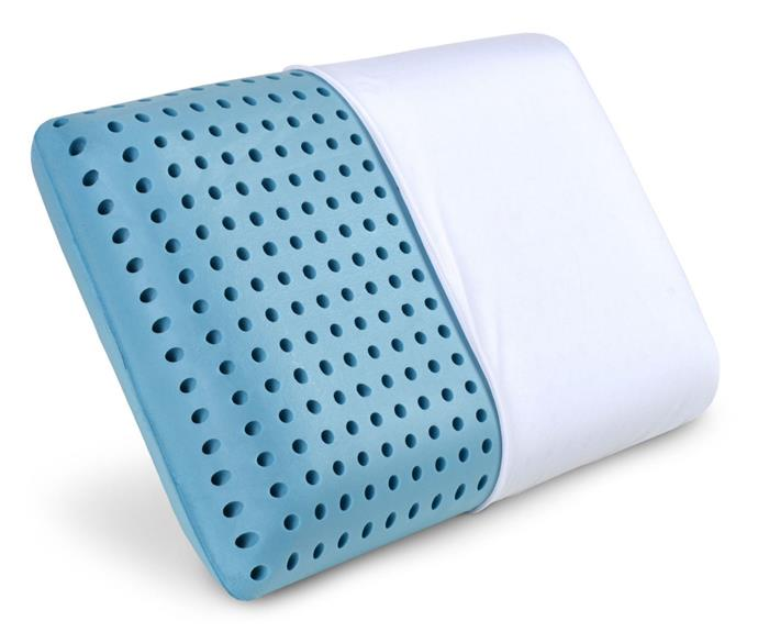 """**Weekender Ventilated Gel Memory Foam Pillow, $119, [Kogan](https://www.kogan.com/au/buy/shoptheglobe-weekender-ventilated-gel-memory-foam-pillow-washable-cover-standard-size-61-136784761-au/