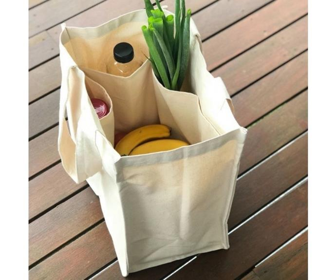 "**Organic Cotton Canvas Tote Shopping Bag, $24.95, [Biome](https://www.biome.com.au/reusable-bags/20699-biome-cotton-canvas-tote-bag-world-0793591433097.html|target=""_blank""