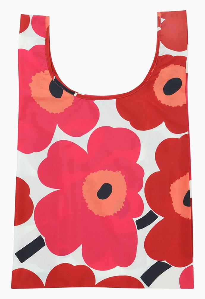 "**Unikko smartbag, $40, [Marimekko](https://www.marimekko.com/au_en/bags-accessories/bags/tote-bags/unikko-smartbag-white-red-048853-001|target=""_blank""