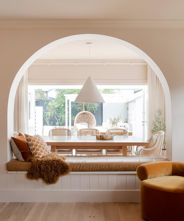 """Perhaps the curviest of them all is Three Birds Renovation's latest project: the [transformation of a tired old cottage in Windsor](https://www.homestolove.com.au/contemporary-cottage-renovation-three-birds-22005