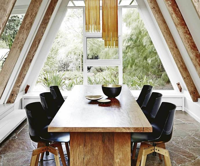 Contemporary timber dining room