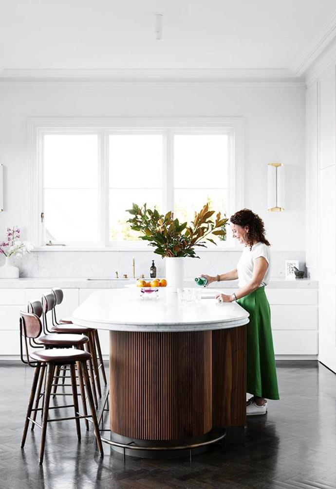 """""""It sounds simple, but finding a stool that didn't overwhelm the bench was difficult,"""" said the owner of this [heritage Sydney home](https://www.homestolove.com.au/heritage-family-home-sydney-21847