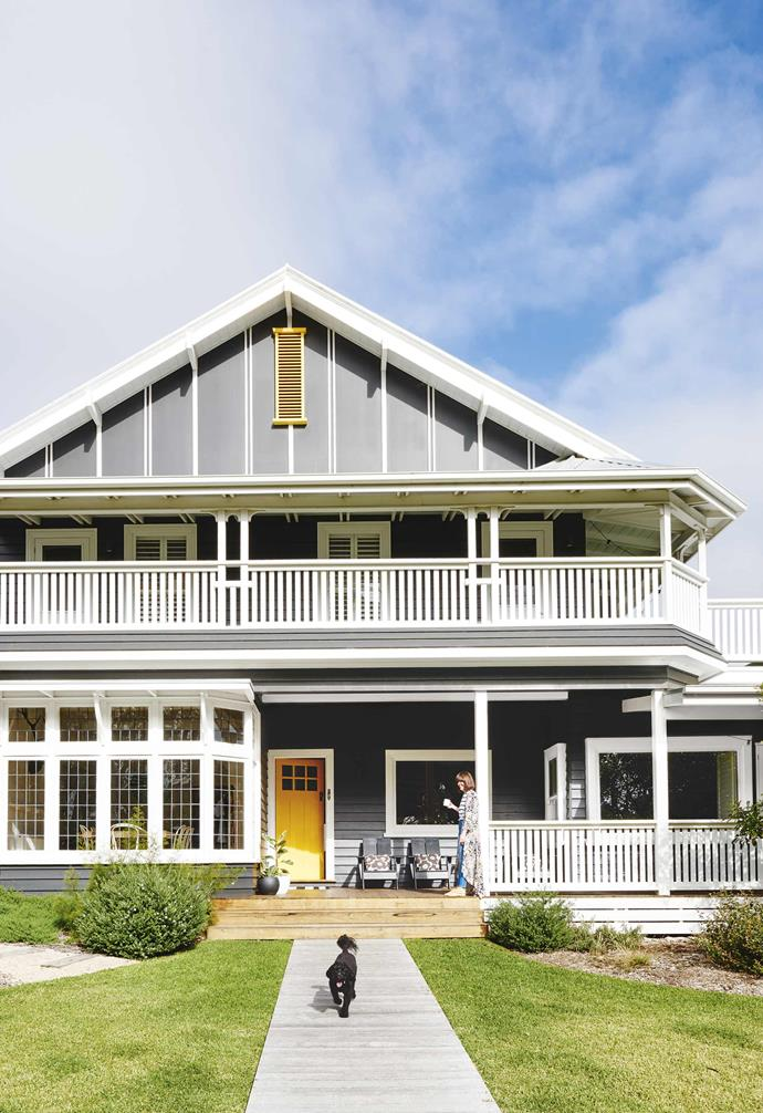 """For the exterior of this [coastal Californian bungalow](https://www.homestolove.com.au/californian-bungalow-barwon-heads-17909