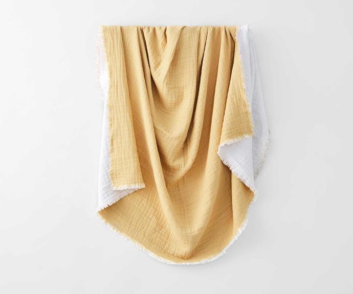 "Sheridan Illona Throw, $199.99, [David Jones](https://www.davidjones.com/brand/sheridan/bedroom/cushions-and-throws/23558457/Illona-Throw.html|target=""_blank""|rel=""nofollow"")."
