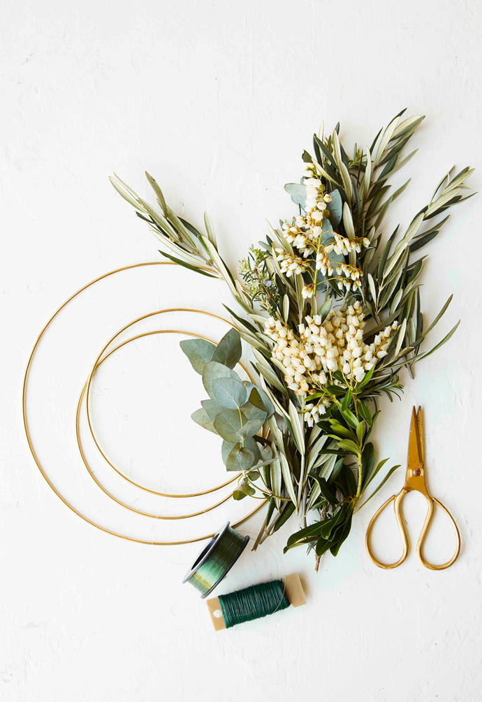 **Tip:** Choose hardy fresh-cut foliage that will dry beautifully – try olive, eucalyptus and rosemary.