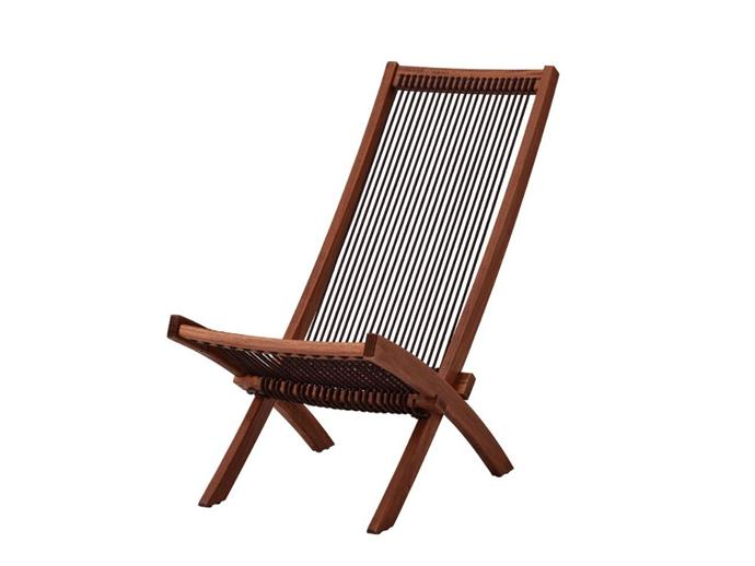 "BROMMÖ sun lounger, $79, [Ikea](https://www.ikea.com/au/en/p/brommoe-lounger-outdoor-brown-stained-20332777/|target=""_blank""