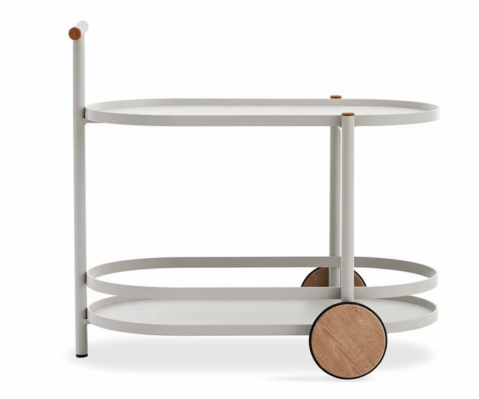 "Kun Design Pipe Accessories Bar Cart, $1125, [Domo](http://domo.com.au/|target=""_blank""|rel=""nofollow"")."
