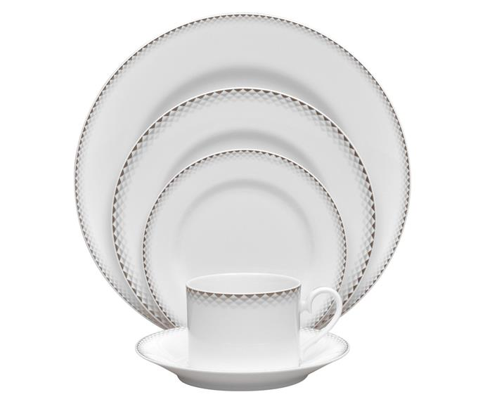 """<P>**HIGH END**<P> <p>The Noritake City Dawn dinner looks dainty and is lightweight, but is robust enough to be chip-resistant and go straight in the dishwasher. <p> <p>City Dawn 20-piece dinner set, $224, available at [catch.com.au](https://www.catch.com.au/product/noritake-20-piece-city-dawn-porcelain-dinner-set-white-platinum-grey-3402262/