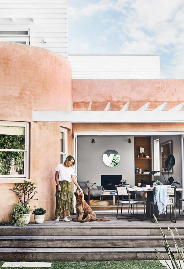 """Interior designer Leah Henricks was after a project but when she found this [newly renovated home](https://www.homestolove.com.au/hamptons-spanish-home-clovelly-20968