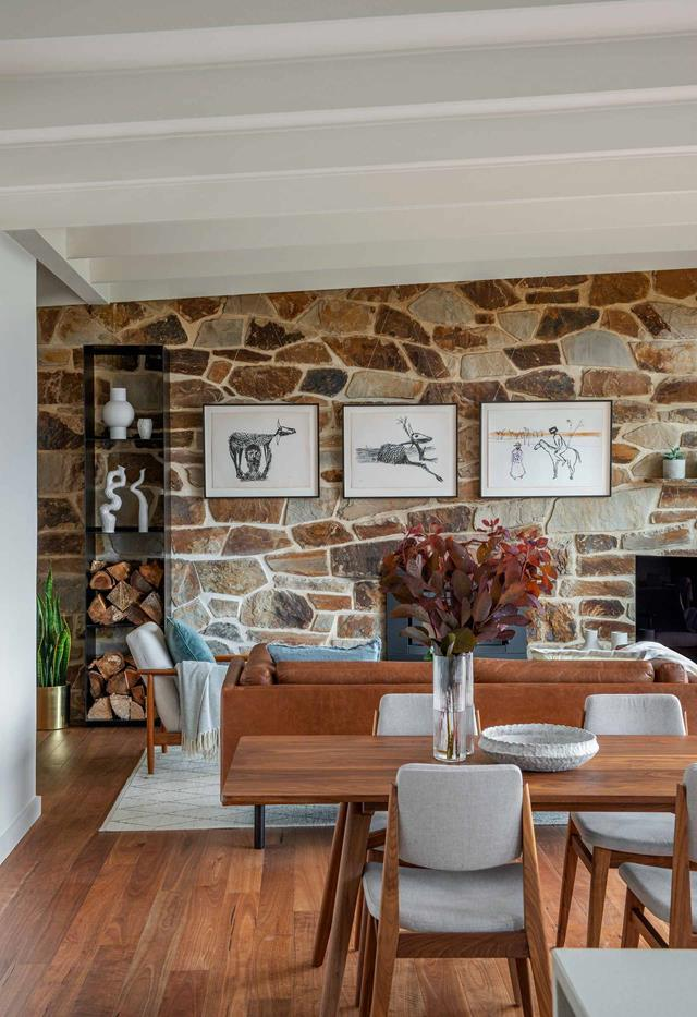 """Losing a room to create more space, the owners of this [stone cottage](https://www.homestolove.com.au/mid-century-modern-home-adelaide-hills-21553