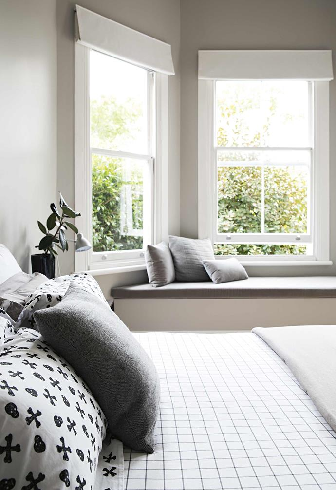 """**Master Bedroom** """"We built in the [window seat](https://www.homestolove.com.au/window-seats-7061