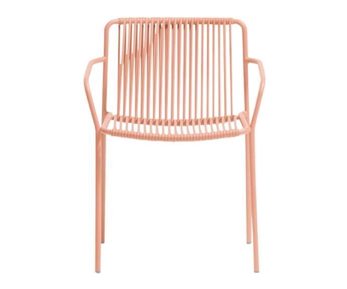 "Pedrali 'Tribeca 3665' powdercoated armchair, $480, [Robert Plumb](https://robertplumb.com.au/|target=""_blank""|rel=""nofollow"")."