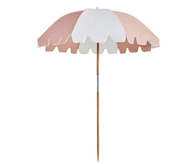 "The Weekend umbrella, $199, [Basil Bangs](https://basilbangs.com/au/|target=""_blank""|rel=""nofollow"")."