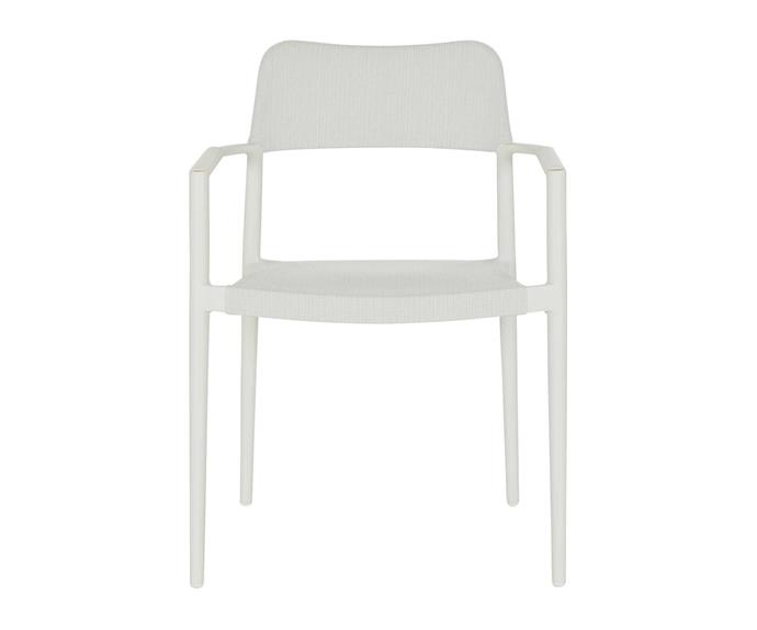 "Cuba stackable outdoor dining chair, $325, [Coco Republic](https://www.cocorepublic.com.au/|target=""_blank""