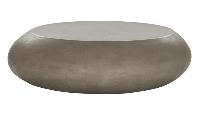 "Riverstone coffee table, $1295, [Coco Republic](https://www.cocorepublic.com.au/|target=""_blank""