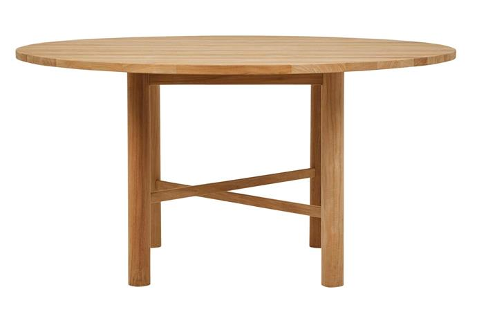 "Cannes round dining table, $3455, [GlobeWest](https://www.globewest.com.au/|target=""_blank""