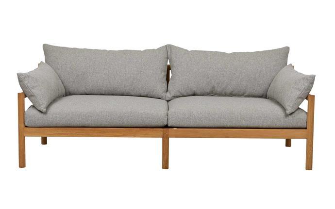 "Wilomena 3-seater sofa in Fog, $7265, [GlobeWest](https://www.globewest.com.au/|target=""_blank""|rel=""nofollow"")."