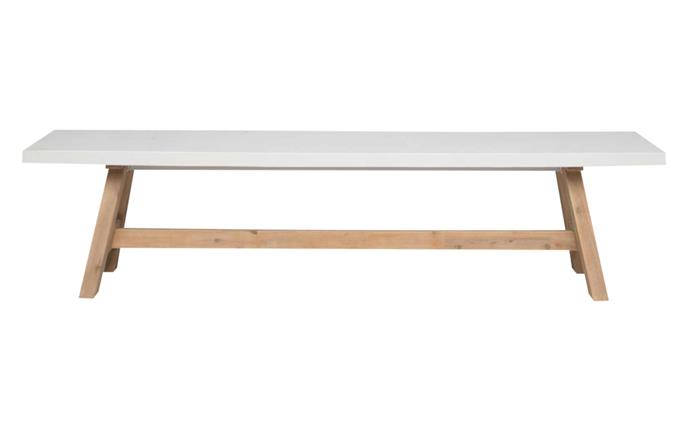 "Havelock dining table in White $1399, [Freedom](https://www.freedom.com.au/|target=""_blank""