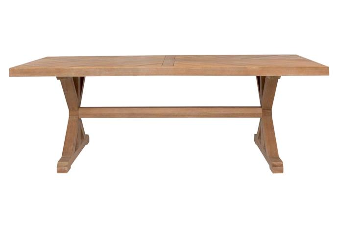 "Montpellier dining table, $1399, [Freedom](https://www.freedom.com.au/|target=""_blank""