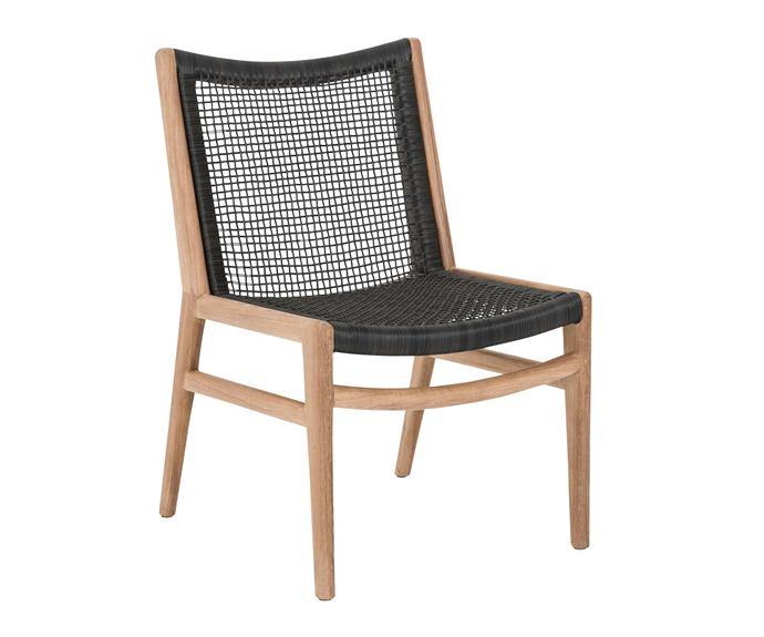 "Morton woven outdoor dining chair, $649, [Eco Outdoor](https://www.ecooutdoor.com.au/|target=""_blank""