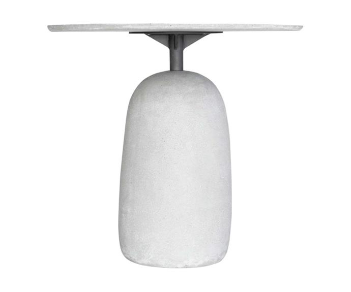 "Pebble table in Grey Concrete, $1069, [Vorsen](https://www.vorsen.com.au/|target=""_blank""|rel=""nofollow"")."