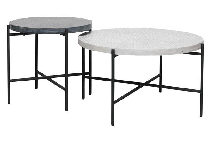 "Quadro nesting tables, $359, [Freedom](https://www.freedom.com.au/|target=""_blank""|rel=""nofollow"")."