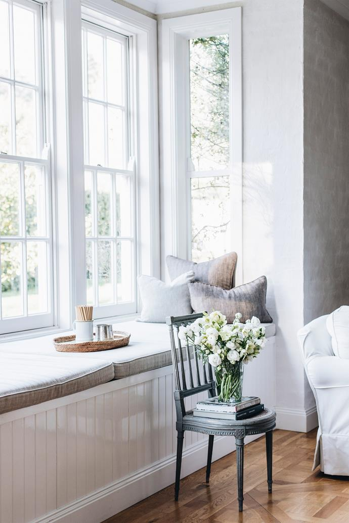"""The space and tranquillity are Melissa's favourite elements. """"I love this house because it's not so much a place to be seen, but a place to disappear."""""""