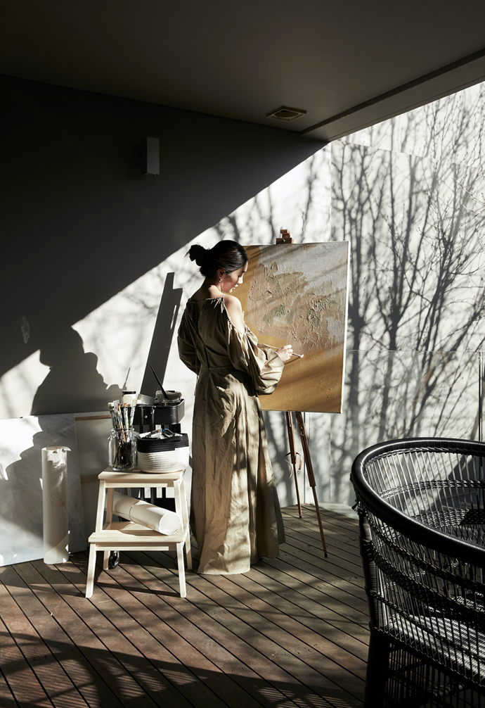 """Alex, pictured in her [home studio](https://www.homestolove.com.au/home-photography-studio-13959