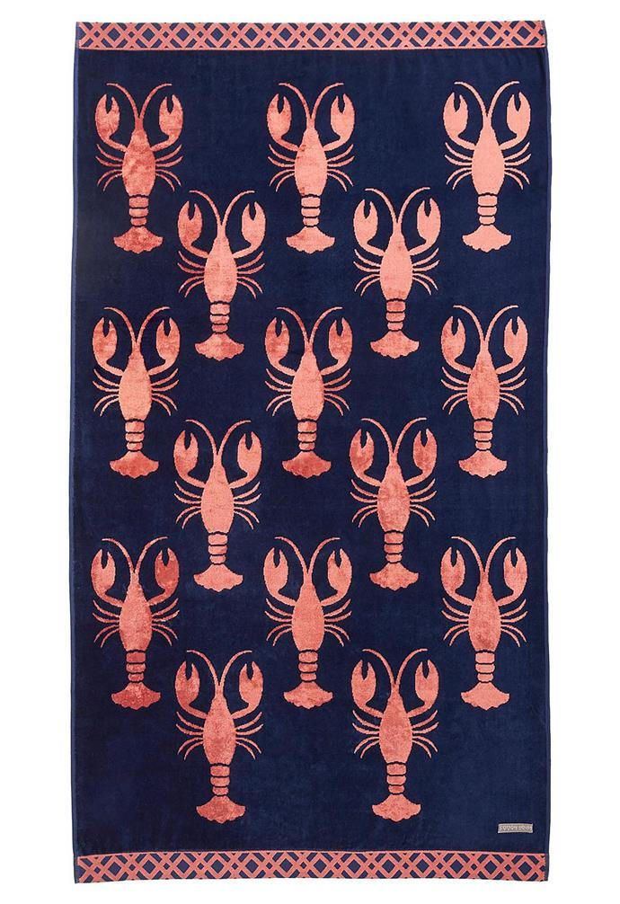 "Cotton House Maine Beach Towel, $69.95, [David Jones](https://www.davidjones.com/home-and-food/bed-and-bath/towels/beach-towels/22946140/Maine-Beach-Towel.html|target=""_blank""