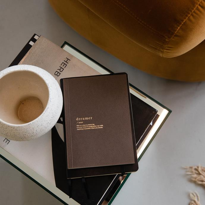 """Dreamer Blank Notebook - Brown, $15.95, [An Organised Life](https://www.anorganisedlife.com/collections/shop-all/products/dreamer-blank-notebook-brown