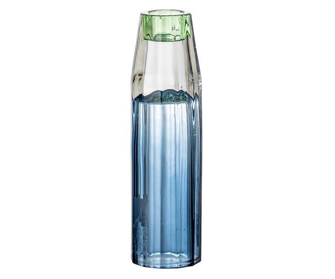 "Bloomingville glass candlestick, $28, [Trit House](https://www.trithouse.com.au/|target=""_blank""|rel=""nofollow"")."