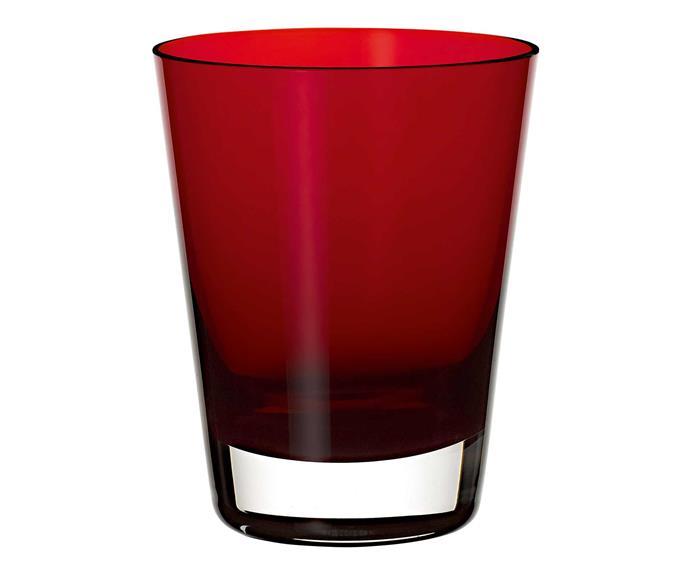 "Colour Concept water glass, $39.95, [Villeroy & Boch](https://www.villeroy-boch.com.au/|target=""_blank""|rel=""nofollow"")."