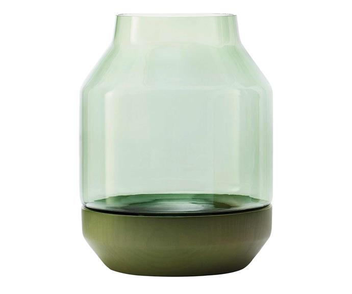 "Muuto 'Elevated' vase, $180, [Living Edge](https://livingedge.com.au/|target=""_blank""|rel=""nofollow"")."