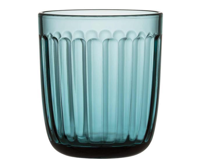 "Raami tumbler in Sea Blue, $34.95 for two, [Iittala](https://www.iittala.com.au/|target=""_blank""|rel=""nofollow"")."