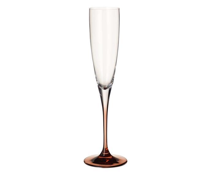 "Manufacture Champagne goblet, $59.95 for two, [Villeroy & Boch](https://www.villeroy-boch.com.au/|target=""_blank""|rel=""nofollow"")."