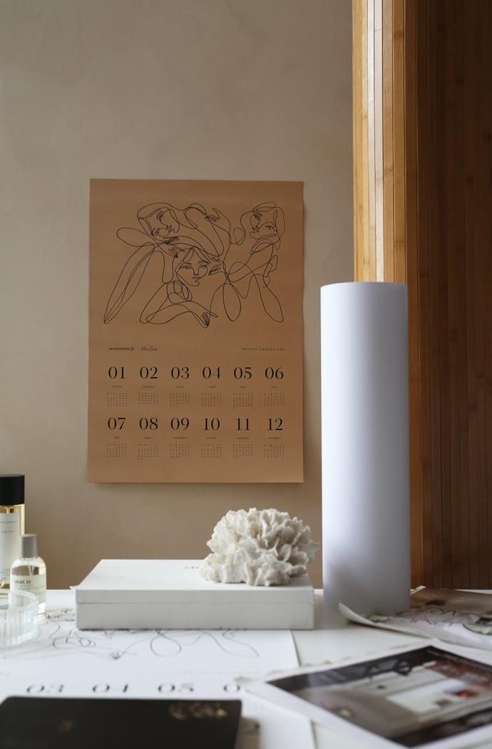 "Elissa Barber x AOL 2021 A2 Wall Calendar Beige, $39.99, [An Organised Life](https://www.anorganisedlife.com/products/elissa-barber-x-aol-2021-a2-wall-calendar-beige|target=""_blank""|rel=""nofollow"")"