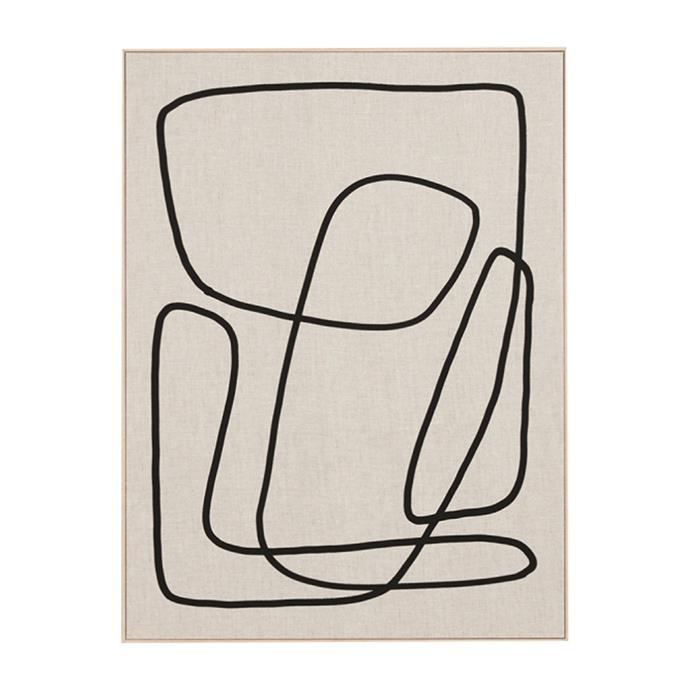 "Peridot 3 Framed Screenprint by Middle of Nowhere, $300, [Life Interiors](https://www.lifeinteriors.com.au/middle-of-nowhere-peridot-3-framed-screenprint|target=""_blank""|rel=""nofollow"")"