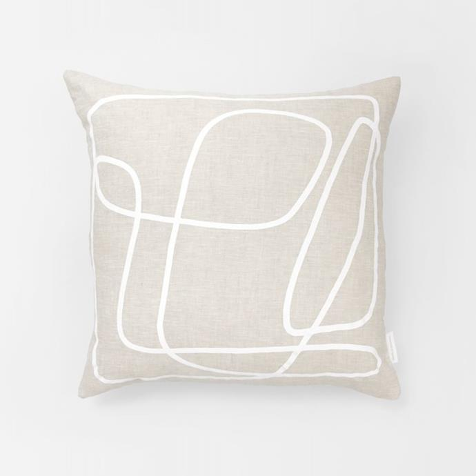 "Middle of Nowhere Peridot White Cushion 50×50 cm, $72, [Design Stuff](https://www.designstuff.com.au/product/middle-of-nowhere-peridot-white-cushion-50x50-cm/|target=""_blank""|rel=""nofollow"")"