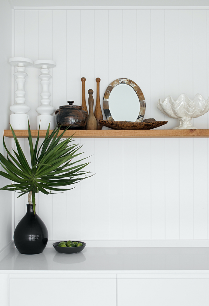 Get the look of the upper living area, and elsewhere in the home, with Easycraft EasyVJ wall panels from Bunnings.
